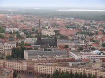 De luchtmening van Leipzig royalty-vrije stock fotografie