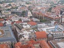De luchtmening van Leipzig royalty-vrije stock foto