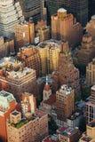 De luchtmening van Manhattan van de Stad van New York Stock Foto