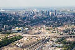 De luchtmening van Montreal royalty-vrije stock afbeeldingen