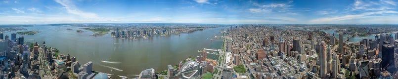 De luchtmening van New York Manhattan van vrijheidstoren Stock Fotografie