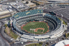 De Luchtmening van Oakland Coliseum stock afbeeldingen