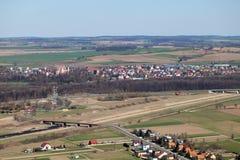 De luchtmening van Otmuchow Royalty-vrije Stock Fotografie