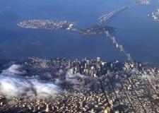 De luchtmening van San Francisco stock afbeeldingen