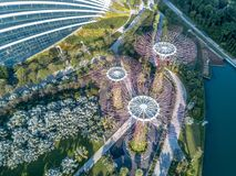 De luchtmening van Singapore Stock Afbeelding