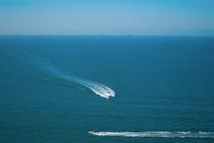 De luchtmening van Tampa Bay Florida met boten stock afbeelding