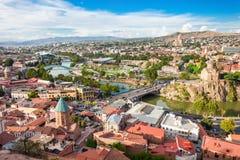 De luchtmening van Tbilisi royalty-vrije stock afbeelding