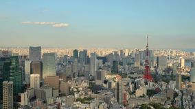 De luchtmening van Tokyo stock video