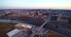 De luchtmening van Vilnius stock videobeelden