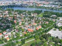 De luchtmening van Wenen, Oostenrijk Stock Afbeelding