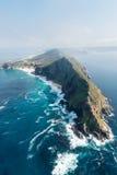 De luchtmening van Zuid-Afrika van het kaappunt Stock Afbeeldingen