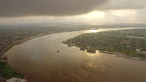 De luchtmississippi New Orleans stock footage