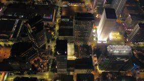De luchtnacht van het Noordencarolina charlotte july 2017 4K inspireert 2 stock videobeelden