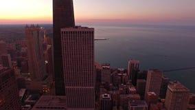De luchtnacht van Illinois Chicago stock footage