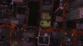 De luchtnacht van Illinois Chicago stock videobeelden