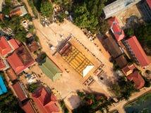 De luchtpagode van de boudhisttempel siem-oogst binnen, Kambodja stock afbeelding