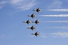 De luchtparade van vliegtuigen Stock Afbeelding