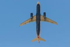 De Luchtroutes van de V.S. A320 stock afbeeldingen