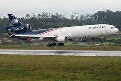 De Luchtroutes van de wereld MD11 Royalty-vrije Stock Afbeeldingen