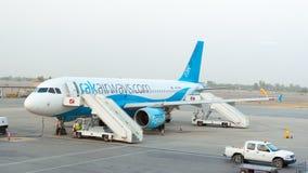 De luchtroutesvliegtuig van Ras al-Khaimah RAK op tarmac, de V.A.E Stock Fotografie