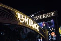 De luchtspiegeling in Las Vegas royalty-vrije stock afbeeldingen