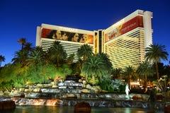 De Luchtspiegelingtoevlucht en het Casino, Las Vegas, NV Stock Foto's