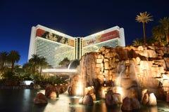 De Luchtspiegelingtoevlucht en het Casino, Las Vegas, NV Stock Fotografie