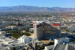 De Luchtspiegelingtoevlucht en het Casino, Las Vegas, NV Stock Afbeeldingen