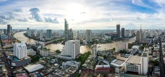 De luchtstad Thailand van Bangkok van het meningspanorama royalty-vrije stock foto's