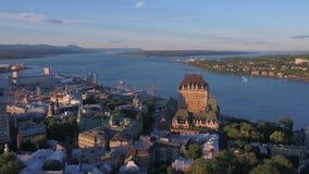 De luchtstad van Canada Quebec Juli 2017 Sunny Day 4K inspireert 2