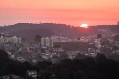 De luchtstad van meningscuritiba bij zonsondergang - Curitiba, Parana, Brazilië Royalty-vrije Stock Fotografie