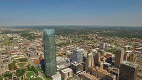 De luchtstad van Oklahoma Oklahoma stock footage