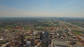 De luchtstad van Oklahoma Oklahoma stock video