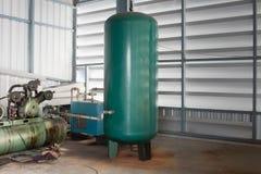 De Luchttank voor Pneumatisch Systeem Stock Foto's