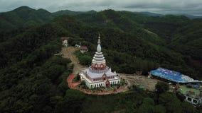 De luchttempel van meningswat thaton in Chiang Mai, Thailand stock footage
