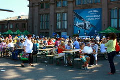 De luchtvaartfestival 2013 van Riga Stock Foto