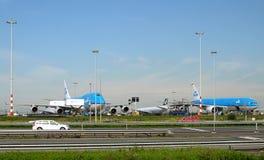 De Luchtvaartlijnen KLM van vliegtuigenroyal dutch Royalty-vrije Stock Afbeelding