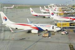 De luchtvaartlijnen van Maleisië Stock Foto