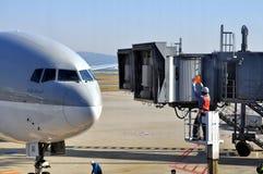 De Luchtvaartlijnen van Qatar Royalty-vrije Stock Foto