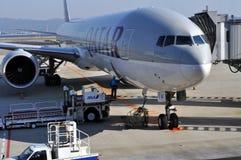 De Luchtvaartlijnen van Qatar Stock Afbeeldingen