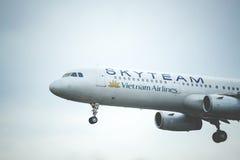 De luchtvaartlijnen van Skyteamvietnam stock afbeeldingen