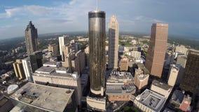 De luchtvideo van de binnenstad van Atlanta Georgië stock footage
