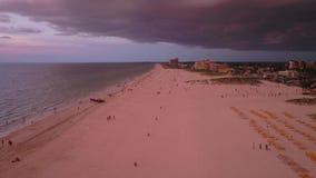 De luchtzonsondergang van Florida Tamper Juli 2017 4K inspireert 2 stock videobeelden