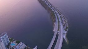 De luchtzonsopgang van Florida Miami Juli 2017 4K inspireert 2 stock footage
