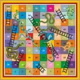 De Ludo-Druk & het Spel van de Ladder van de slang Stock Foto