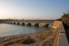 De Lugou-Brug in Fengtai-District, de Stad van Peking Royalty-vrije Stock Afbeelding