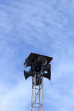 De Luide Spreker in blauwe hemel op te merken Stock Fotografie