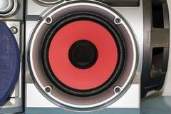 De luidspreker is rood Royalty-vrije Stock Afbeelding