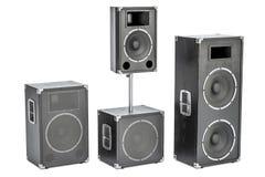 De luidsprekers van de studiomonitor, het 3D teruggeven Stock Foto
