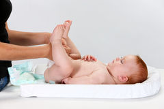 De luier van de baby royalty-vrije stock fotografie